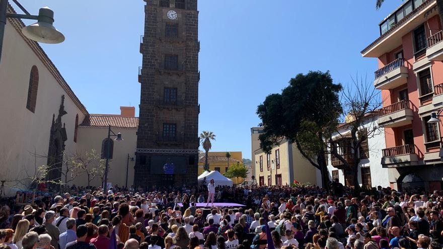 Cierre de campaña de Podemos en La Laguna.