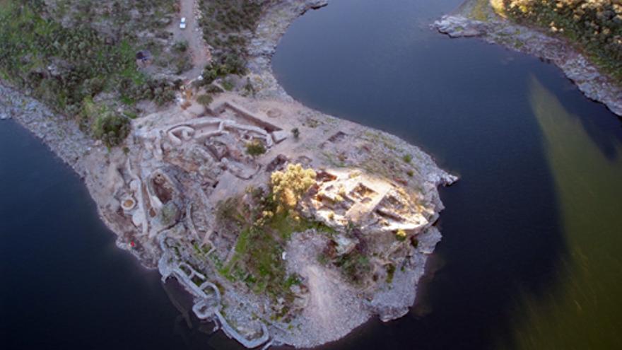 Vista aérea del yacimiento argárico de Peñalosa