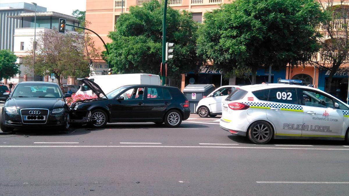 Accidente en El Brillante este viernes.