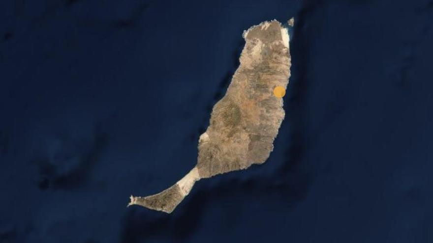 Capacidad asistencial (círculo naranja) por COVID-19 en la isla de Fuerteventura