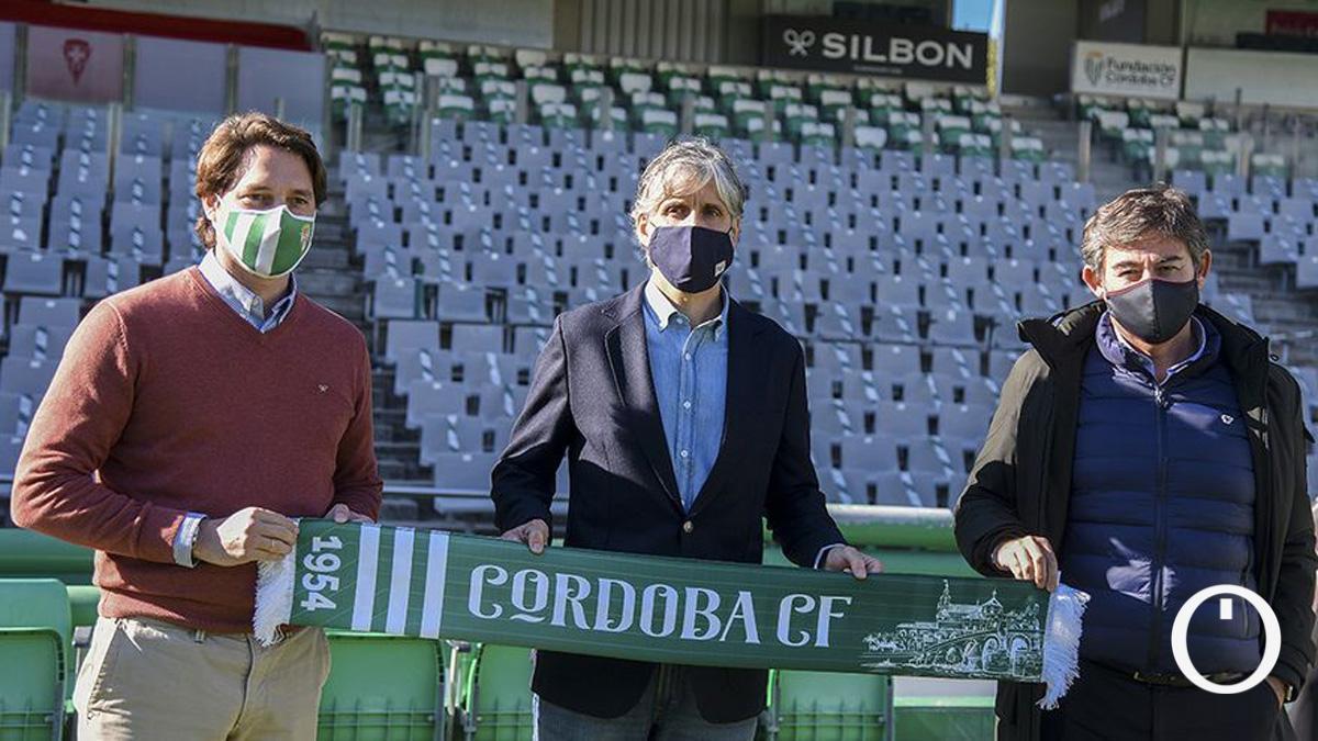 Presentación de Alfaro como entrenador del Córdoba.