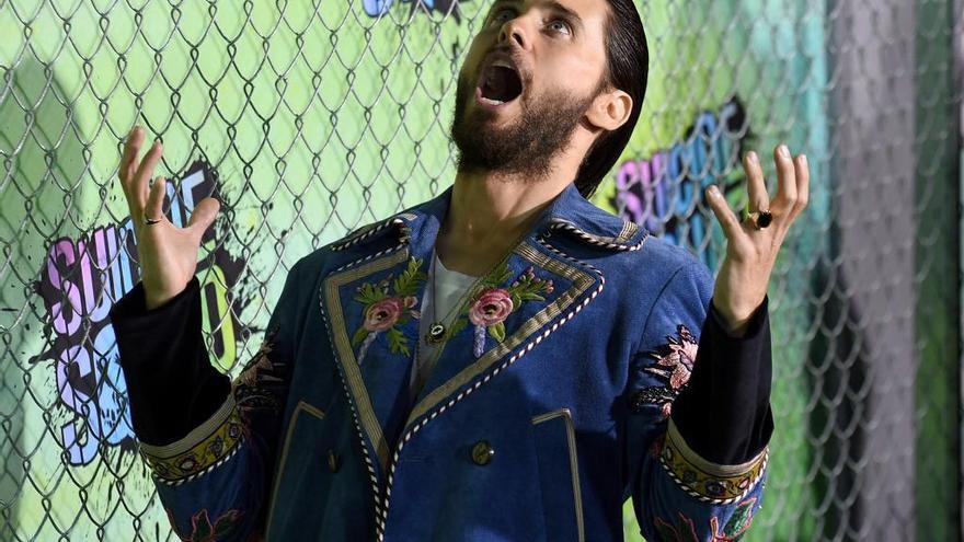 El actor y cantante Jared Leto, durante la premiere neoyorquina de 'Escuadrón Suicida'