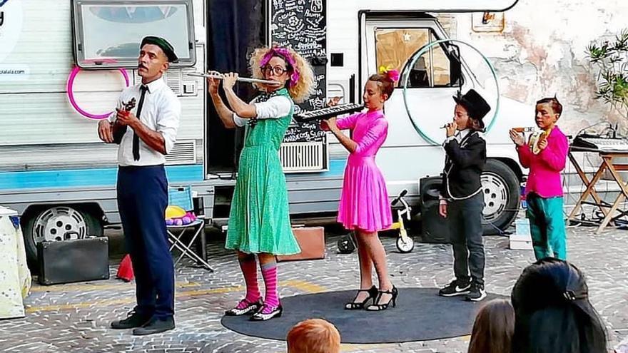 El espectáculo circense de 'Circus Family on the road' llega a Fuencaliente
