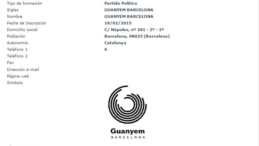 Registro Guanyem Barcelona