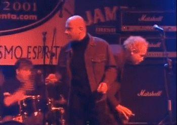 German Coppini y Julián Hernández en el concierto del 25 aniversario de El Penta
