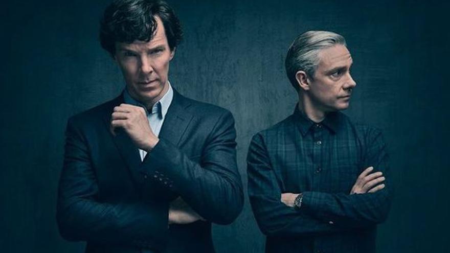 Póster promocional de la cuarta entrega de 'Sherlock'