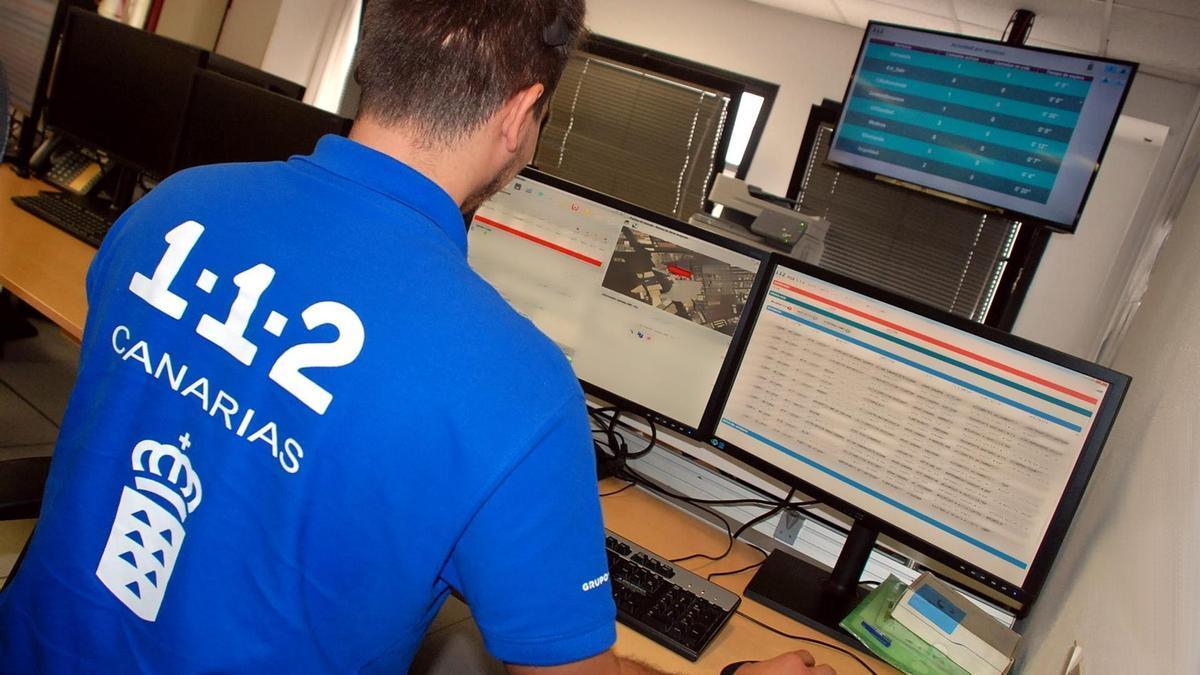 Sala Operativa del Centro Coordinador de Emergencias y Seguridad (Cecoes) 1-1-2 - CECOES 1-1-2 - Archivo