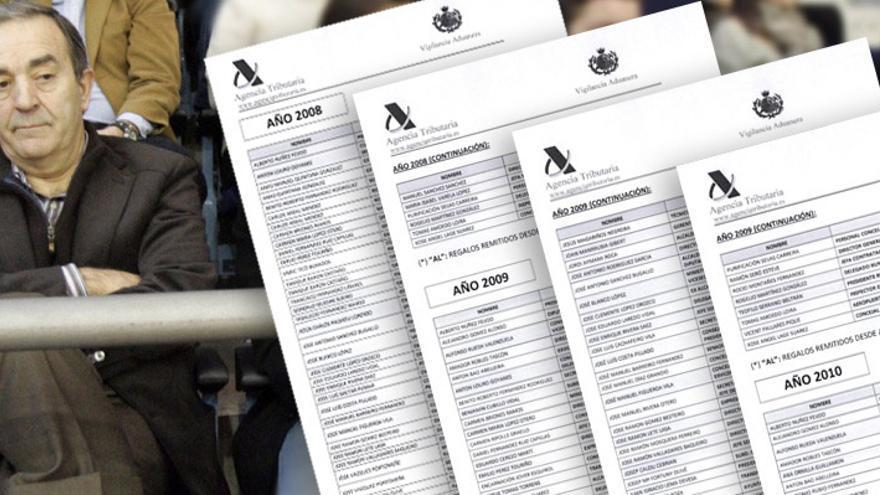 Raúl López, dueño de Monbús, y varias páginas del informe de Vigilancia Aduanera