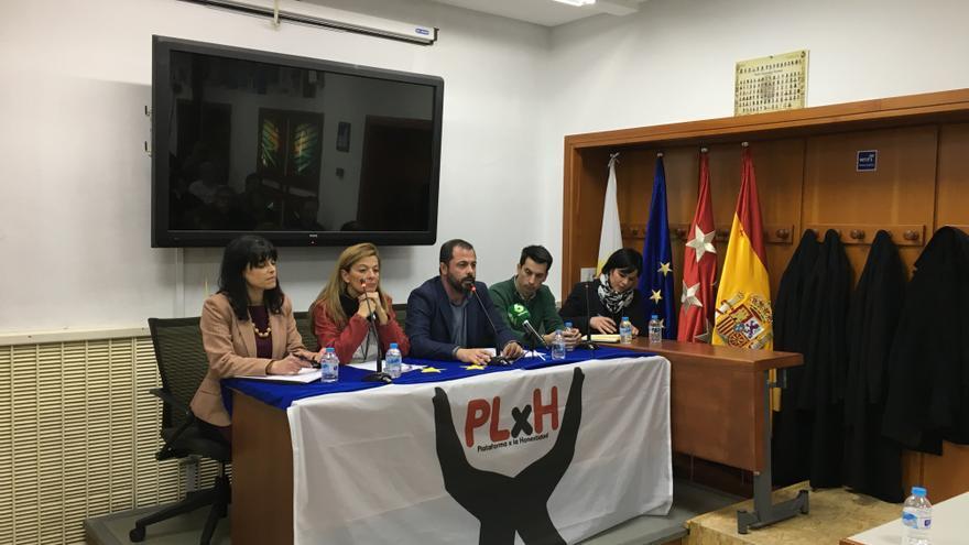 Los representantes de la Plataforma x la Honestidad.