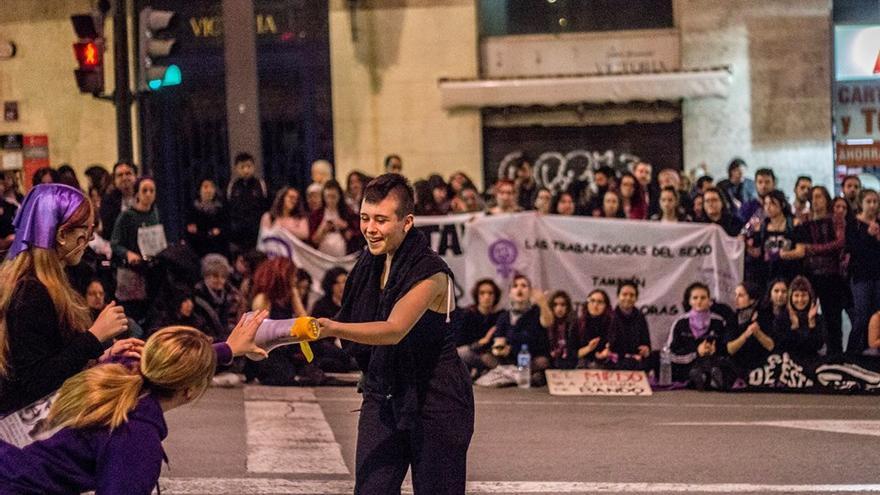 Manifestación por el Día Internacional de la Mujer en Murcia/ Veintemillas