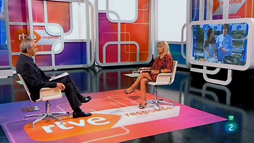 Ángel Nodal y Toñi Prieto en 'RTVE responde'