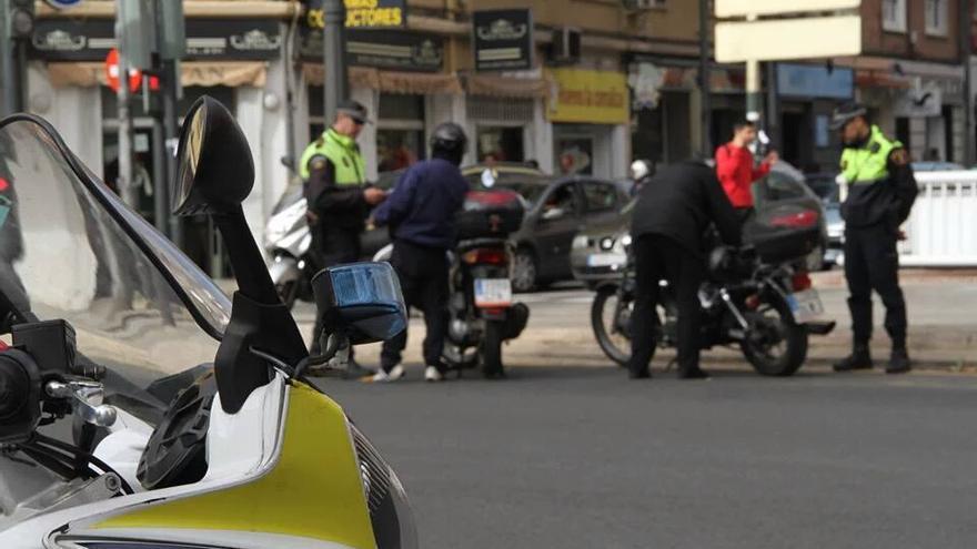 Controles preventivos de la Policía Local de Valencia