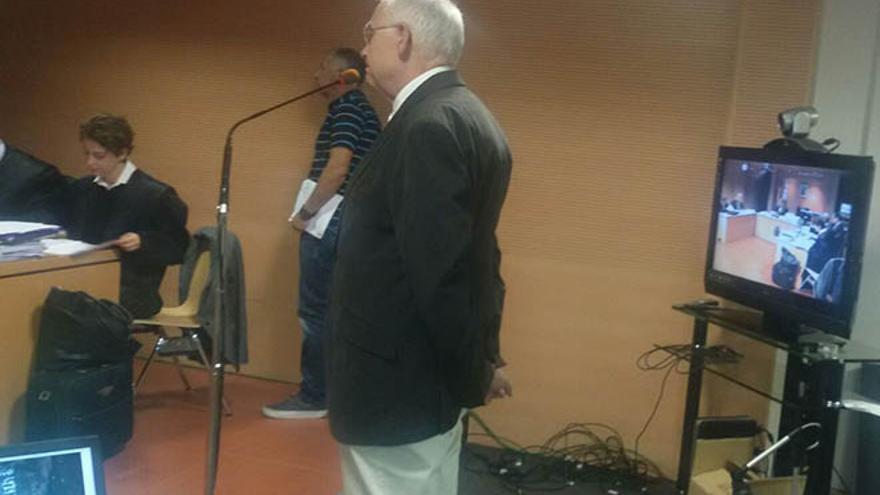 Felipe Fernández Camero, este lunes en su declaración en el Juzgado.