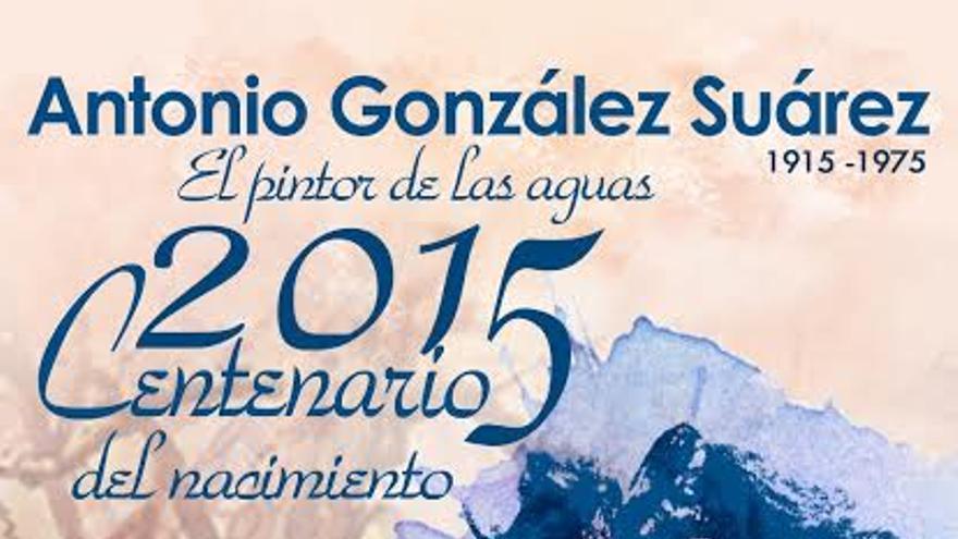 Cartel las conferencias 'El pintor González Suárez, evocación del hombre y del artista'.