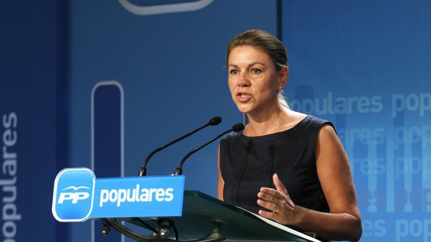"""Cospedal dice que los españoles, incluso los """"enfadados"""", agradecerán la """"responsabilidad"""" del Gobierno"""