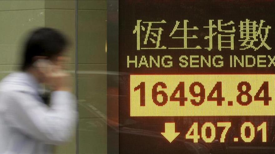 La Bolsa de Hong Kong sube un 0,56 por ciento a media sesión