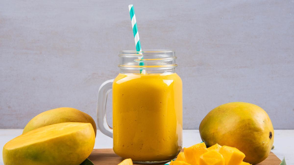 Un batido de mango.