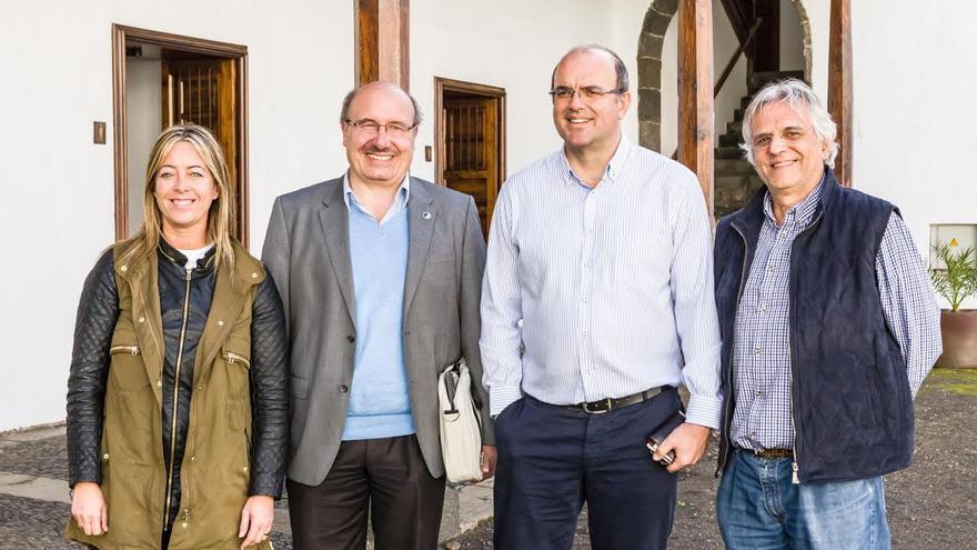 De izquierda a dereha: María de Haro, Rafael Rebolo, Anselmo Pestana y Juan Carlos Pérez.