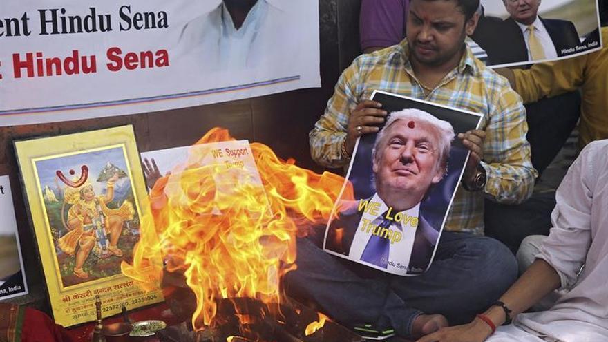La extrema derecha india invoca a Shiva y al dios mono para ayudar a Trump