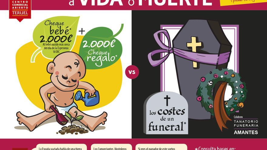 """Cartel de la campaña """"Teruel, a vida o muerte"""""""