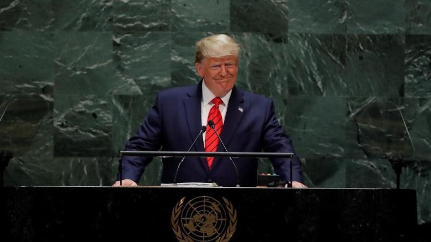 Donald Trump durante su discurso ante la Asamblea General de la ONU.