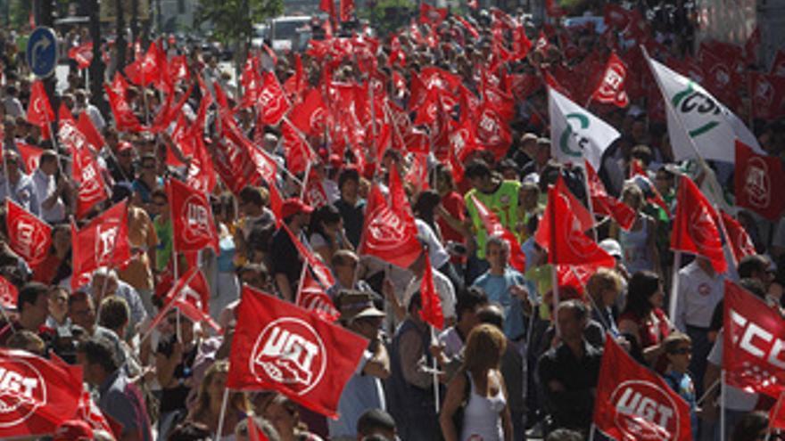 Huelga de Funcionarios, manifestación, sindicatos