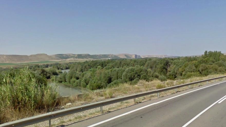 El río Cinca a la altura de Zaidín, donde desemboca la Clamor Amarca.