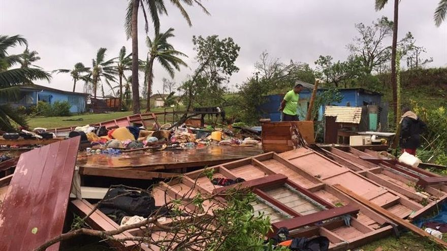 Asciende a 20 el número de muertos en Fiyi tras el paso del ciclón Winston