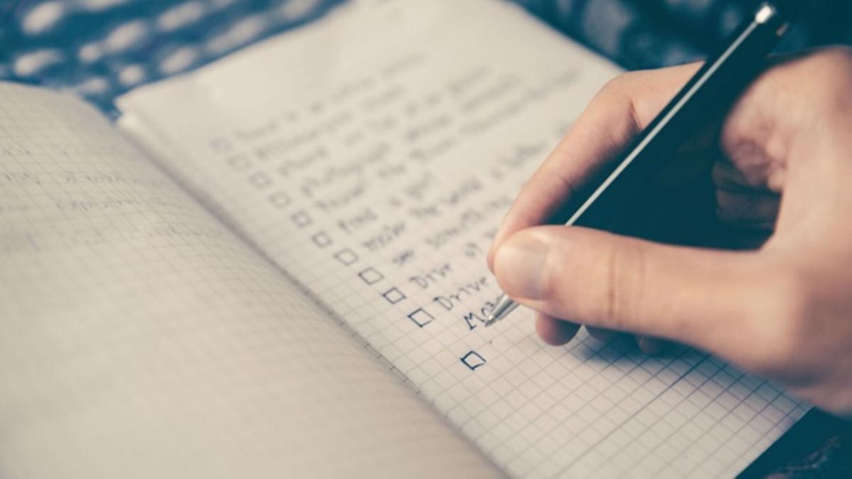 Hacer listas para organizarse mejor