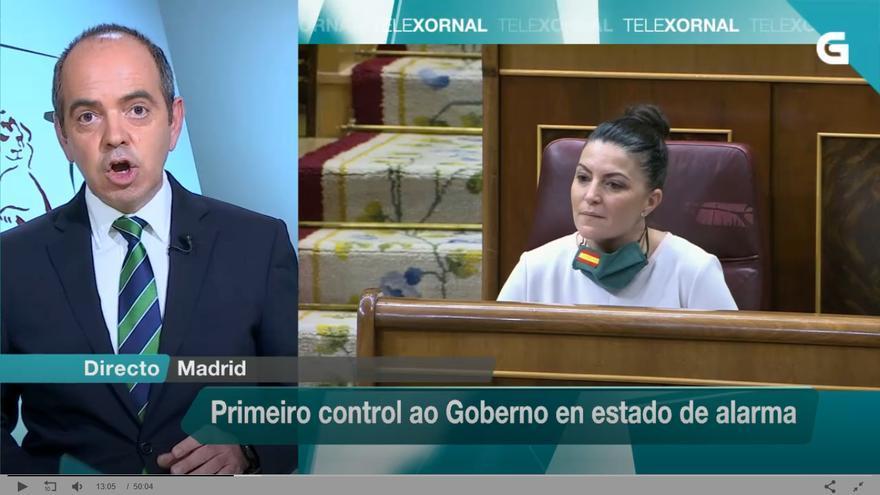 Imagen del informativo de la TVG del 15 de abril