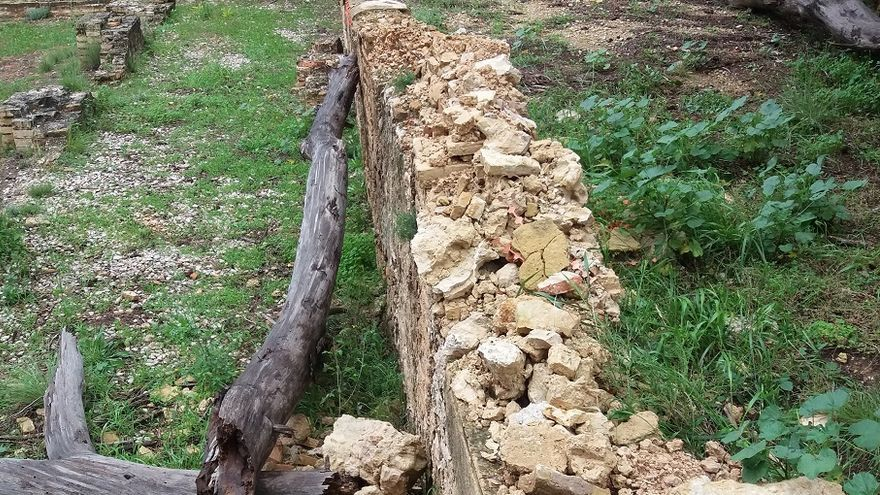 Imatge de l'estat de les ruines monestir de la Murta