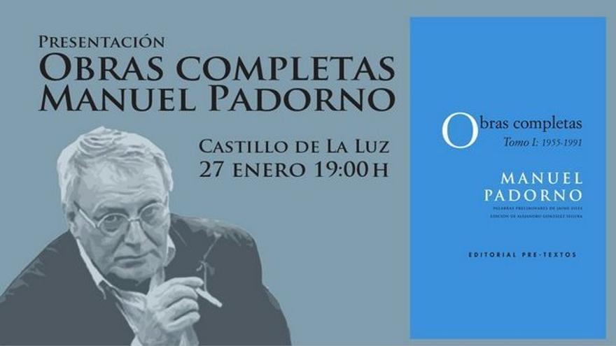 Presentación del primer tomo de la 'Obras completas' de Manuel Padorno