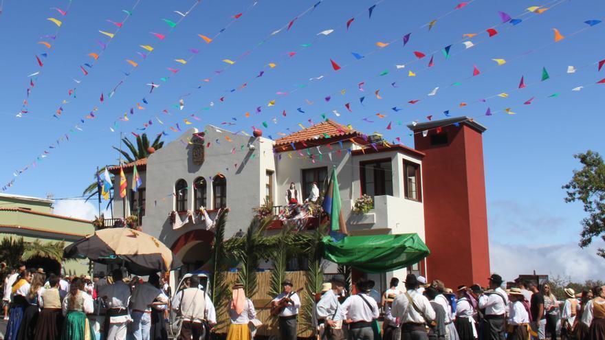 Imagen de archivo de la romería típica de Puntagorda.