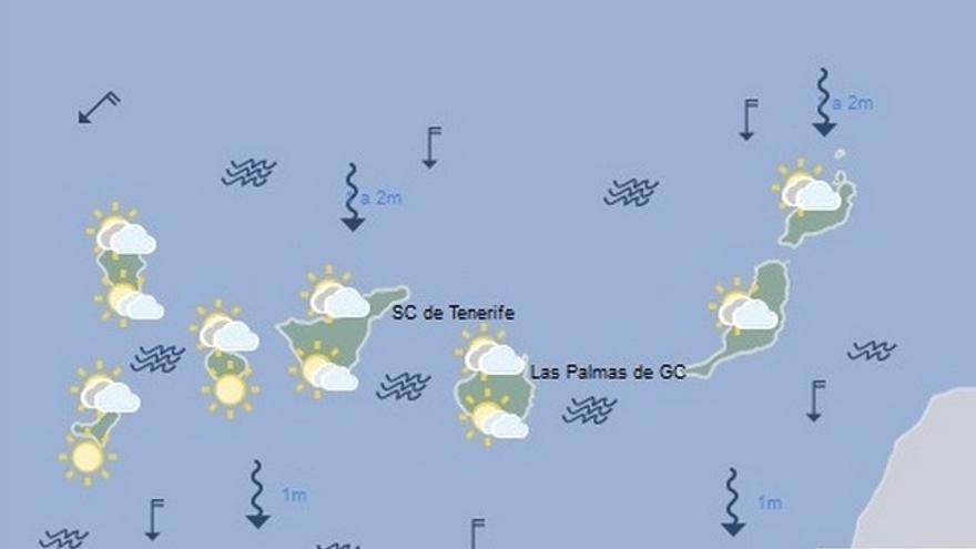 La previsión del tiempo en Canarias para este martes, 28 de junio