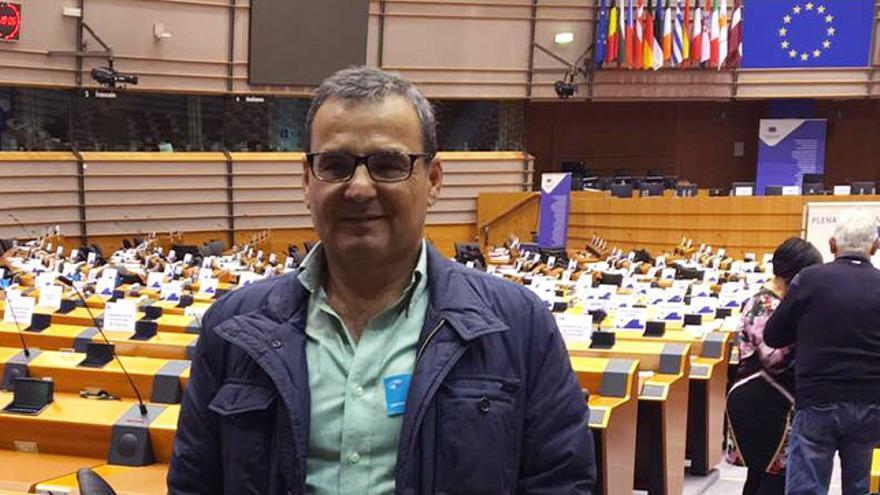 Faneque Hernández en el Parlamento Europeo.