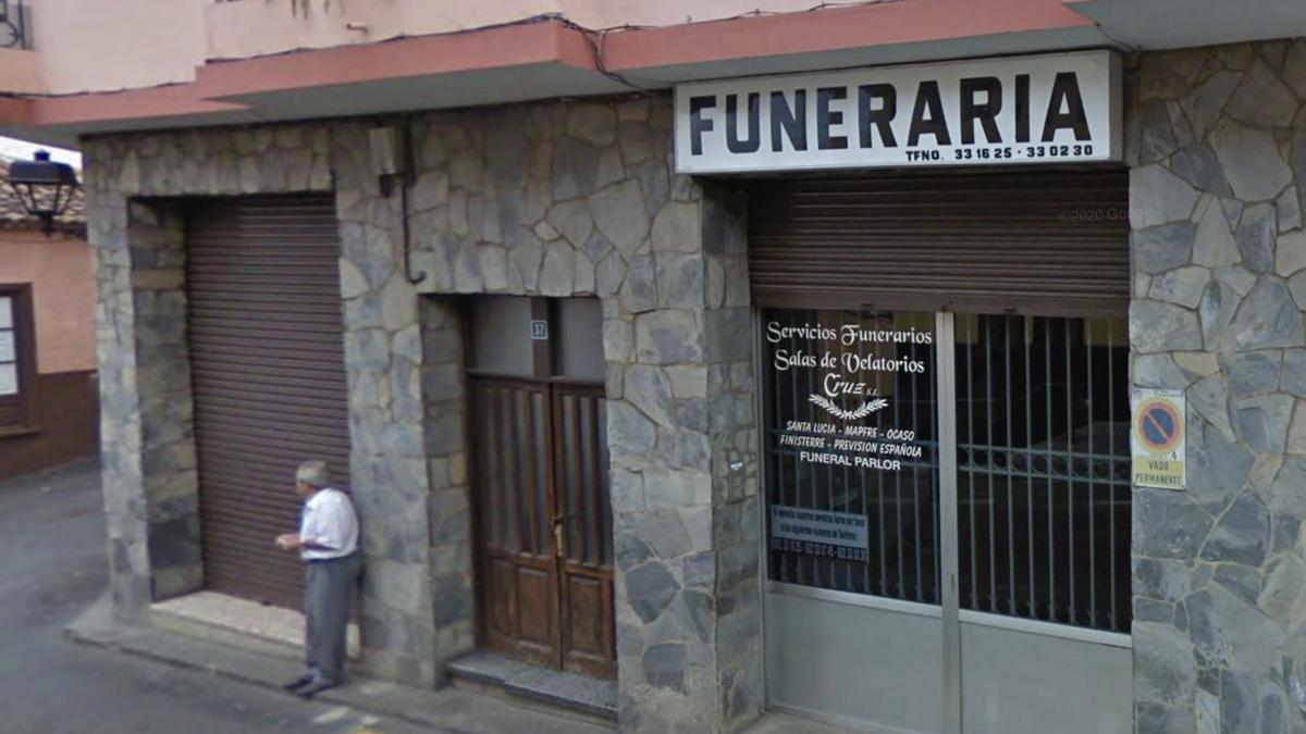 Funeraria en el barrio de Cañeño, La Orotava
