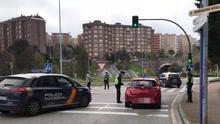 Control policial en Santander.