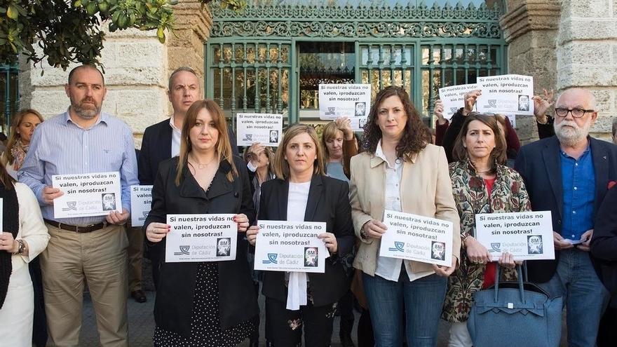 Irene García encabeza el paro con motivo del Día Internacional de la Mujer
