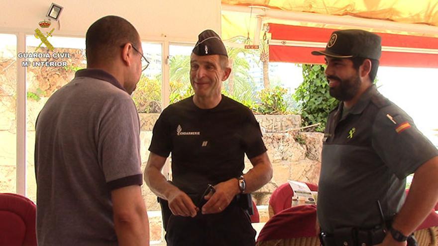 Efectivos de la Guardia Civil de Lanzarote.
