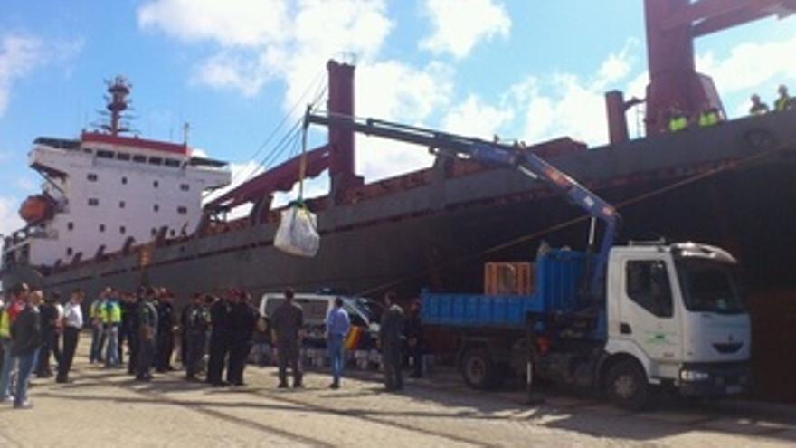 Barco interceptado en Cádiz con una gran cantidad de droga en su interior