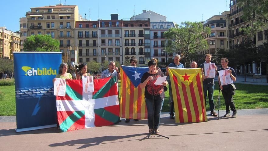 EH Bildu se manifestará el próximo domingo en San Sebastián bajo el lema 'Catalunya decide, Euskal Herria decide'