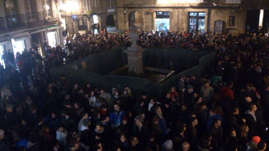 Imagen de la concentración de Santiago