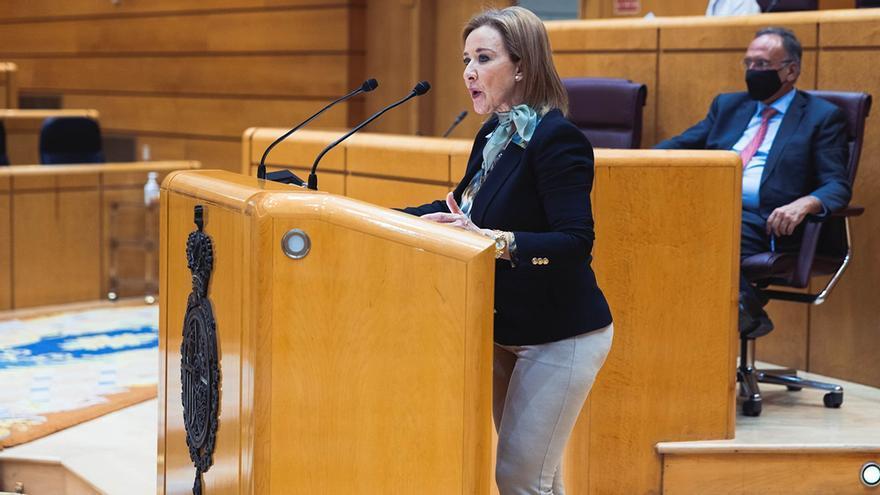 Archivo - La senadora de Vox Yolanda Merelo