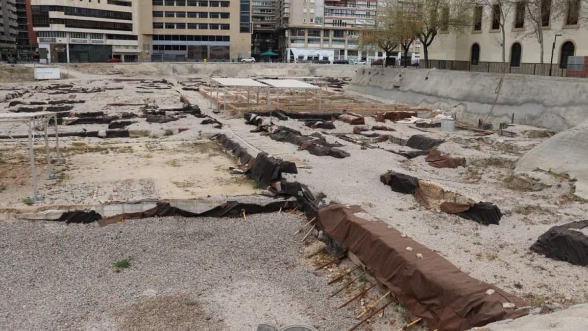 Estado del yacimiento arqueológico de San Esteban en marzo de 2021