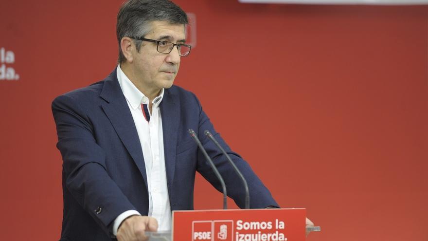 """Patxi López dice que las elecciones van a """"oxigenar"""", pero avisa de que no son la solución al conflicto catalán"""