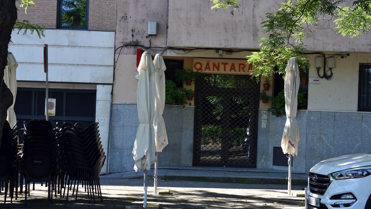 Bar Qántara, en el barrio de Santa Bárbara de Toledo