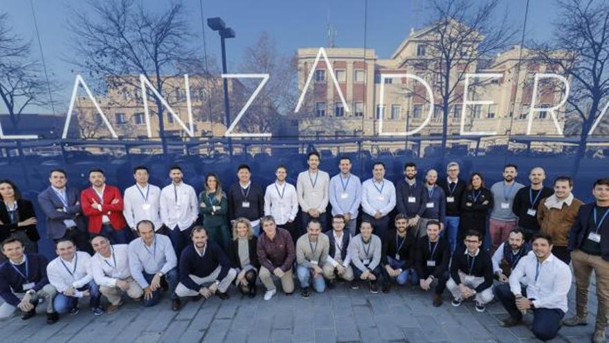 Los representantes de las nuevas empresas de Lanzadera