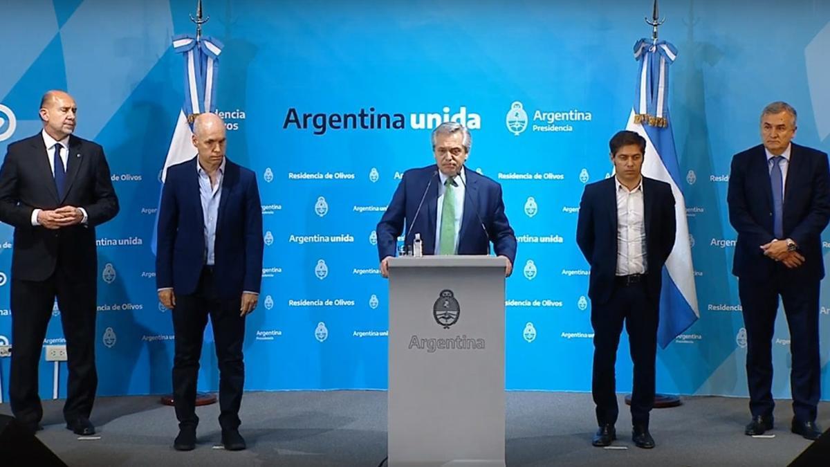 Alberto Fernández / gobernadores / Olivos