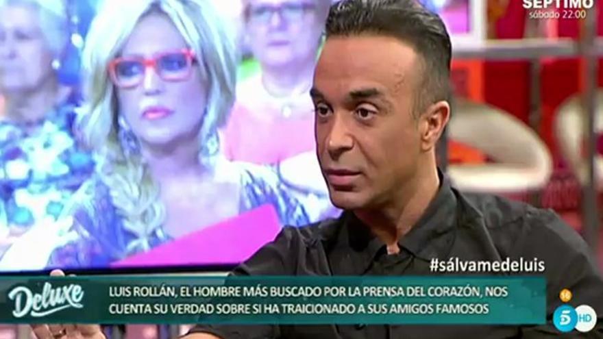 """Luis Rollán, """"el más buscado"""", llora en 'Deluxe' por su """"error"""" con Laura Matamoros"""