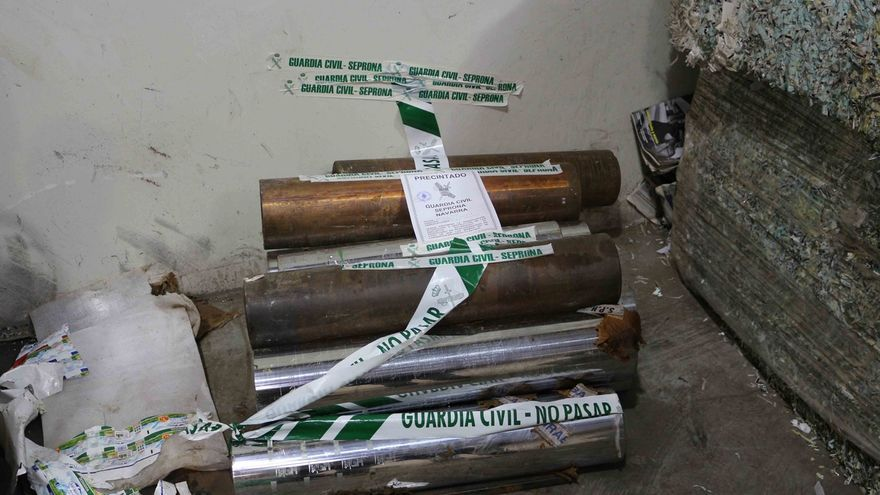 Detenida una persona acusada de robar bobinas valoradas en 2.600 euros